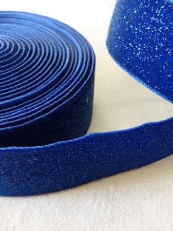 Ruban bleu à paillettes