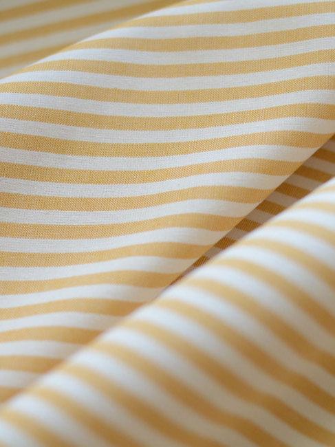 Coton rayé jaune