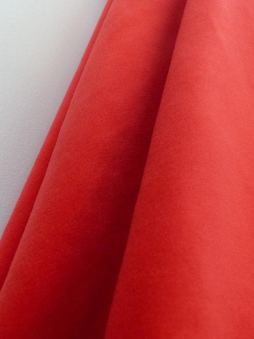 Velours uni rouge