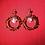 Thumbnail: Citrine & Quartz Heart Hoops