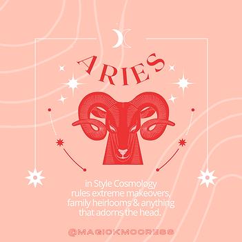 Pink Horoscope Zodiac Aries Illustration