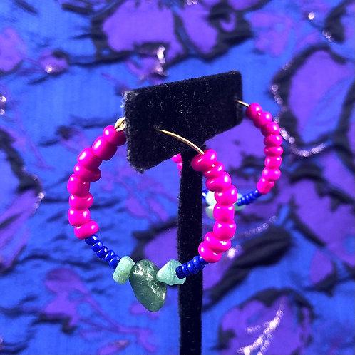 Aventurine Love Vibration Hoops