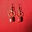 Thumbnail: Red Agate Mini Jewel Hoops