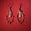 Thumbnail: Red Agate & Quartz Drop Hoops