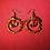 Thumbnail: Carnelian Jewel Hoops