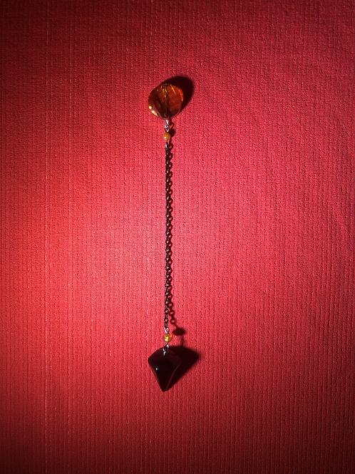 Carnelian & Onyx Pendulum