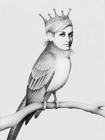 Twiggy And The Twig Fine Art Print