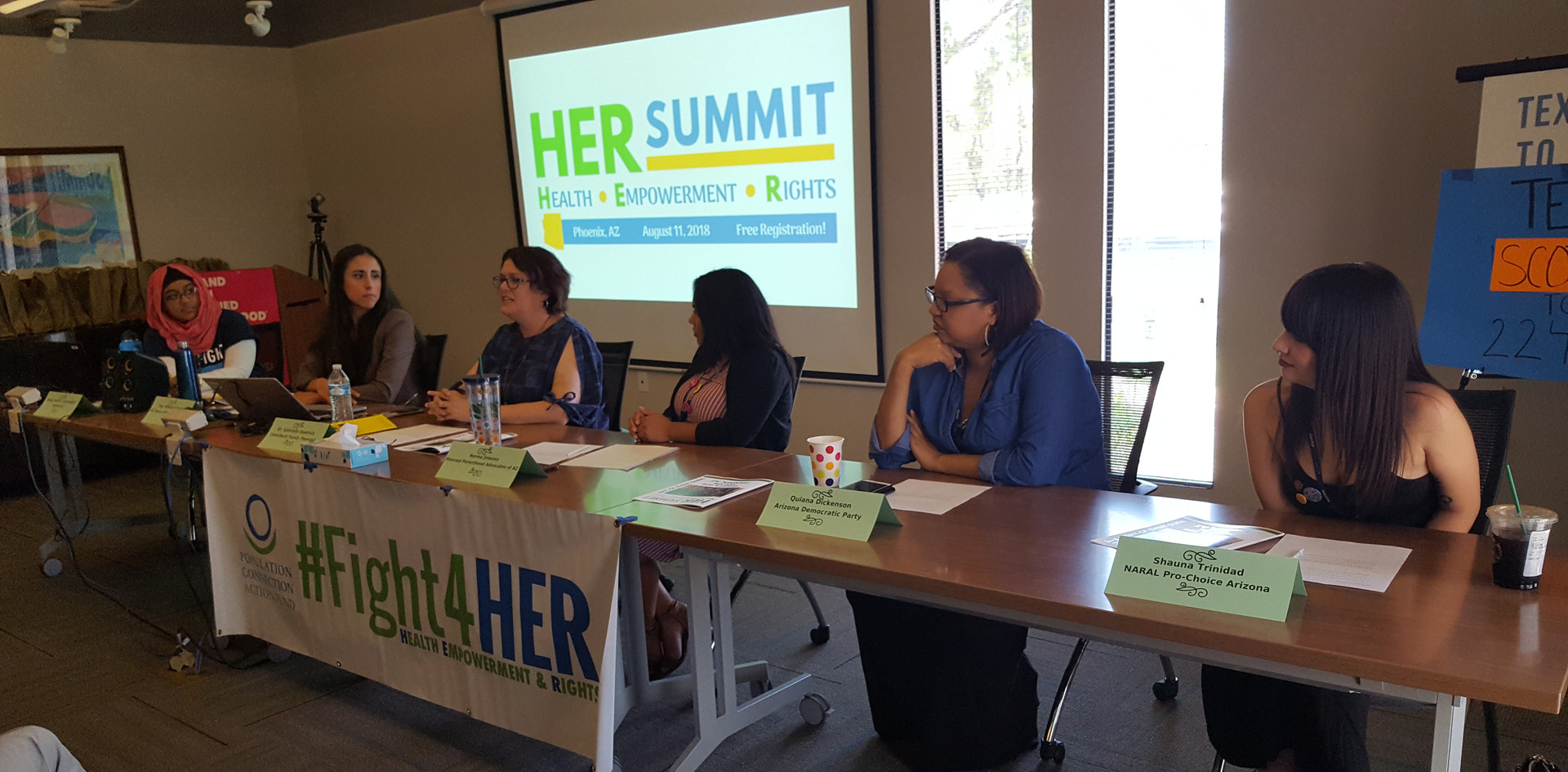 Panelists discuss the state of reproductive rights in Arizona, the U.S., and around the world at the Health, Empowerment, and Rights Summit