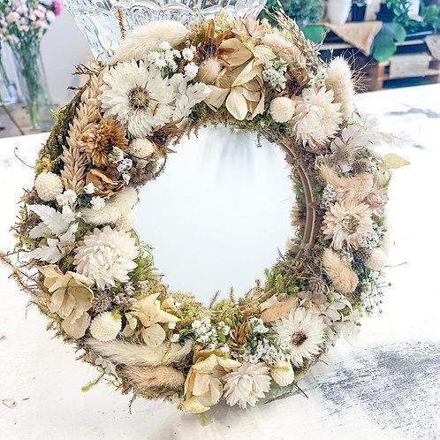 Dried Floral Mirror