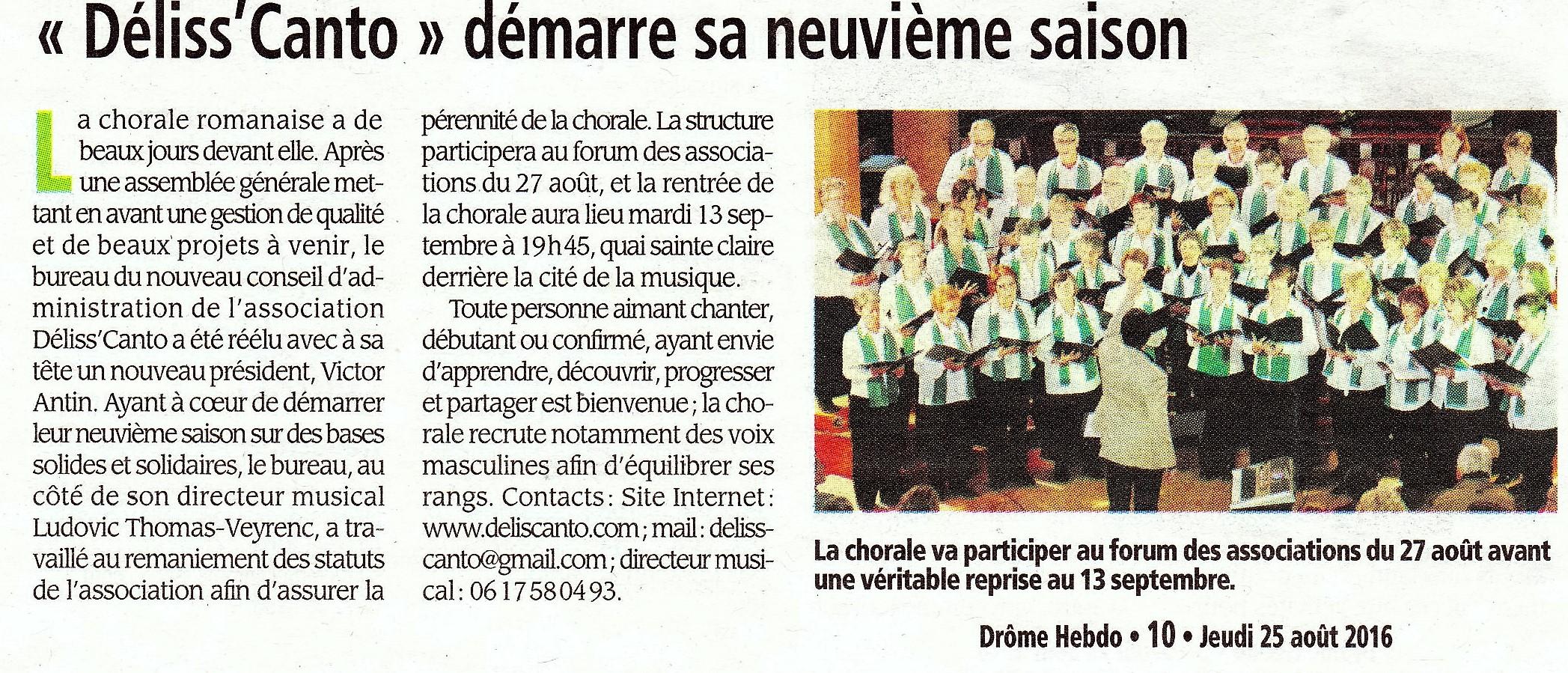 Drôme Hebdo - 25.08.2016