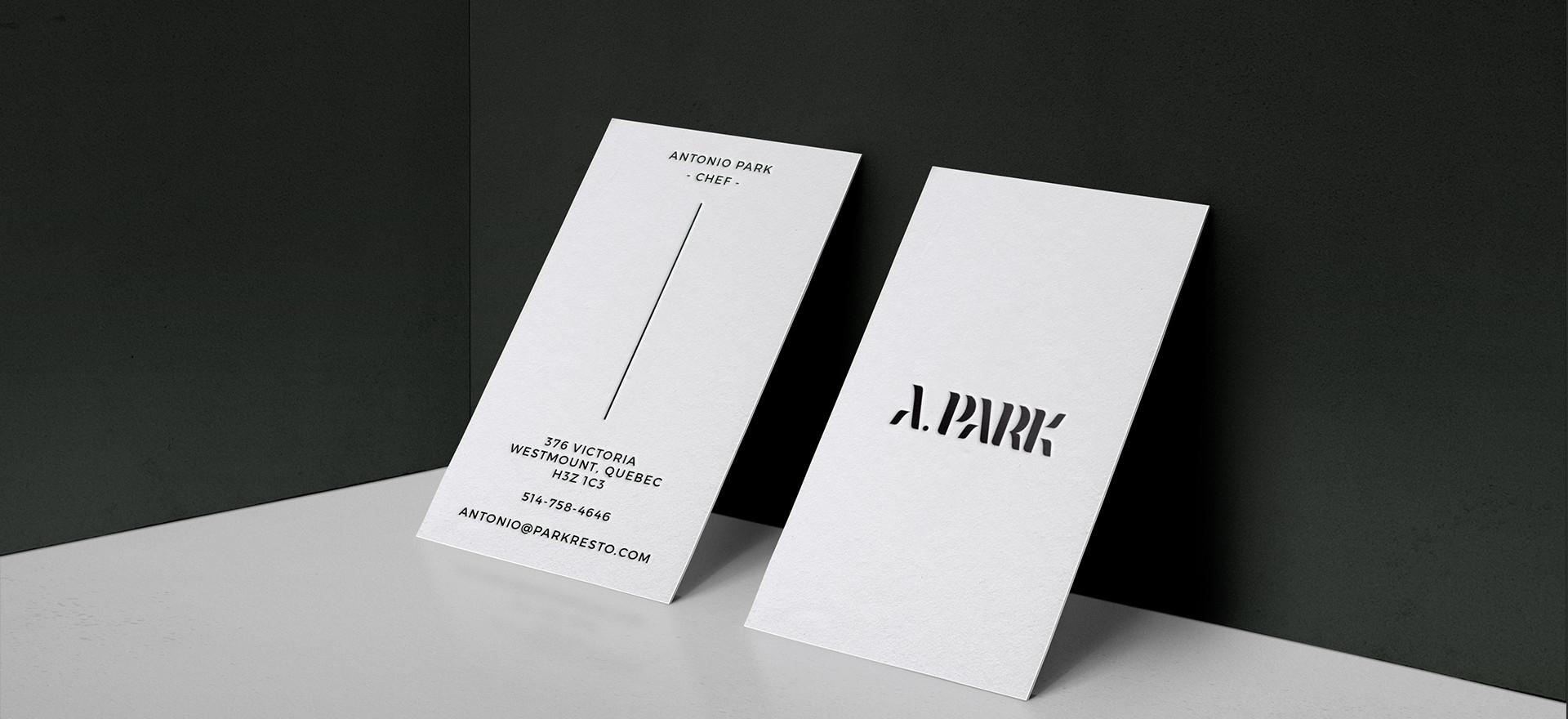 Antonio Park Carte d'affaire