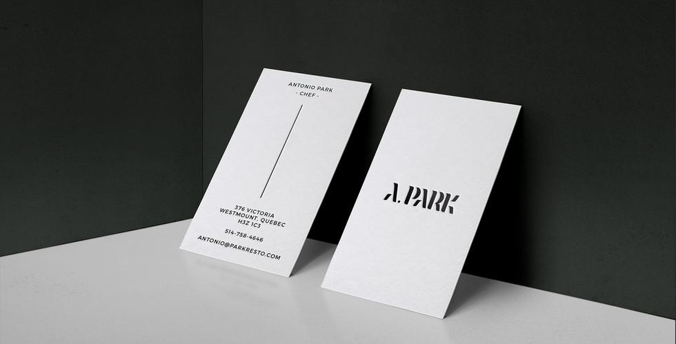 Antonio Park business card
