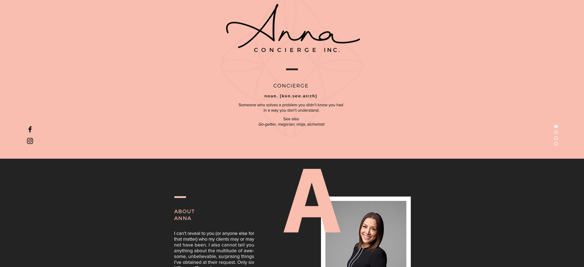 Anna Concierge website