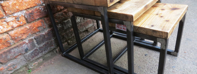 Industrial Chic Reclaimed Nest of Tables 419