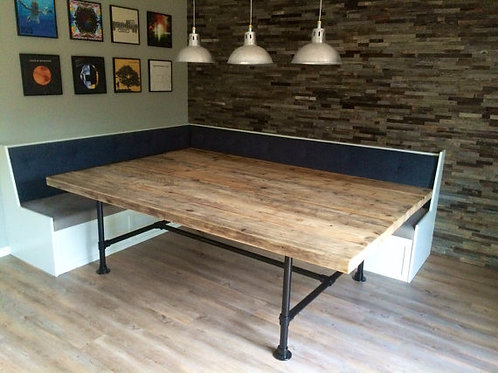 Reclaimed Industrial Chic Pipe 10-12 Seater Conference Office Table 572