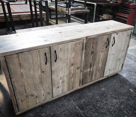 Reclaimed Industrial Chic Rustic Sideboard Dresser Unit 599
