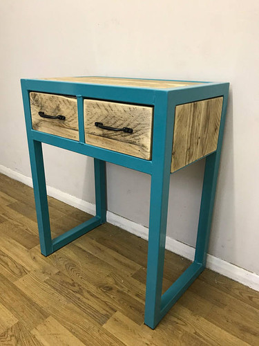 Industrial Chic Custom Reclaimed Console Table with 2 ...