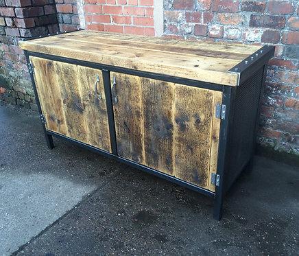 Reclaimed Industrial Chic Rustic Sideboard Dresser 119