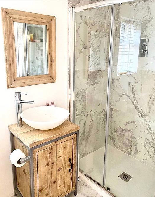 Reclaimed Industrial Rustic Bathroom Basin Washstand Sideboard w/ Full Door 671
