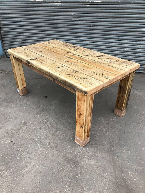 Reclaimed Rustic Industrial Farmhouse 6-8 Seater Solid Wood Dining Table 551