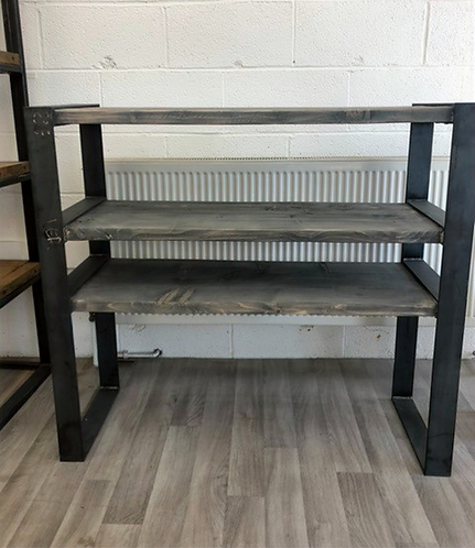 ***IN STOCK*** RECLAIMED TIMBER BOOKCASE SHELVING UNIT IN GREYWASH