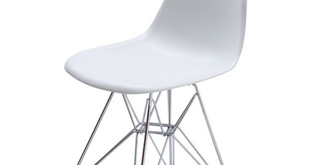Eames Style Plastic Tub Chair, White and other colours.Inspired Eiffel Retro DSR