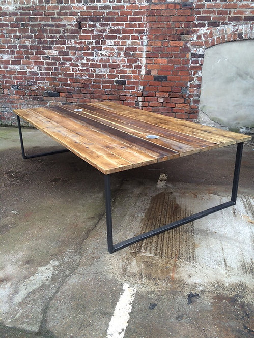 Reclaimed Industrial Chic 10-12 Seater Conference Office Table HCB 172