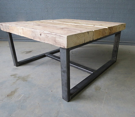 Industrial Chic Style Reclaimed Custom Coffee Table 352