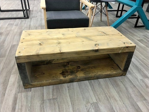 ***IN STOCK*** RECLAIMED TIMBER TV UNIT / COFFEE TABLE IN OIL