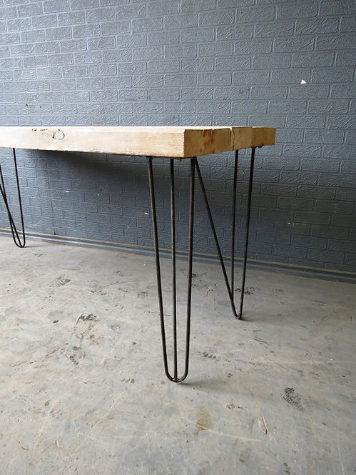 Industrial Chic Reclaimed Custom Hairpin Leg Office Desk Table 174