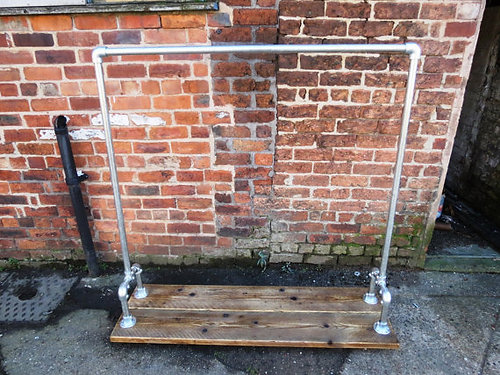 Reclaimed Industrial Chic Gas Pipe Clothes Hanging Rail Shop Fittings 163