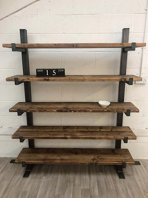 Industrial Chic Reclaimed Trestle Bookcase- 676