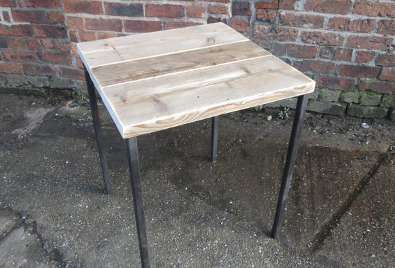Industrial Chic Reclaimed 2-4 Seater Straight Leg Table Steel & Wood 213