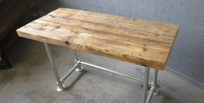 Reclaimed Industrial Chic Custom Made Scaffold Pipe Desk Unit 261