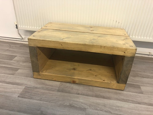***IN STOCK*** ALL TIMBER COFFEE TABLE / TV UNIT IN OIL