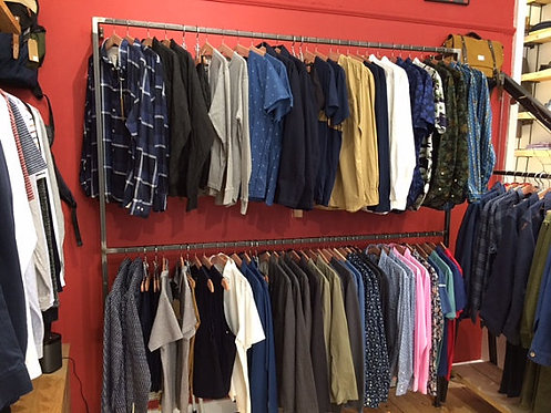 Industrial Chic Steel Clothes Hanging Rail Shop Fittings 012