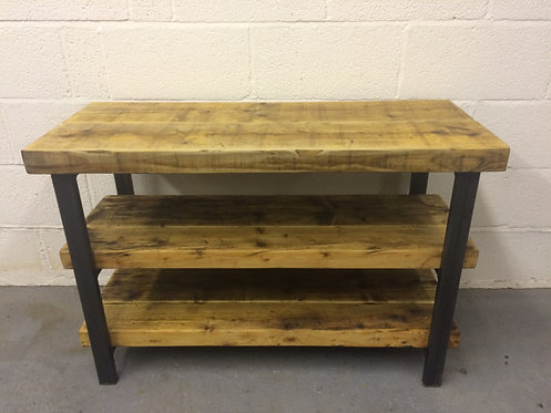 Industrial Chic Reclaimed TV Stand Media Centre Coffee Table 132