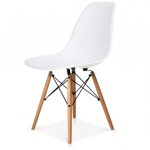Eames Style Plastic Tub Chair, White and other colours.Inspired ...