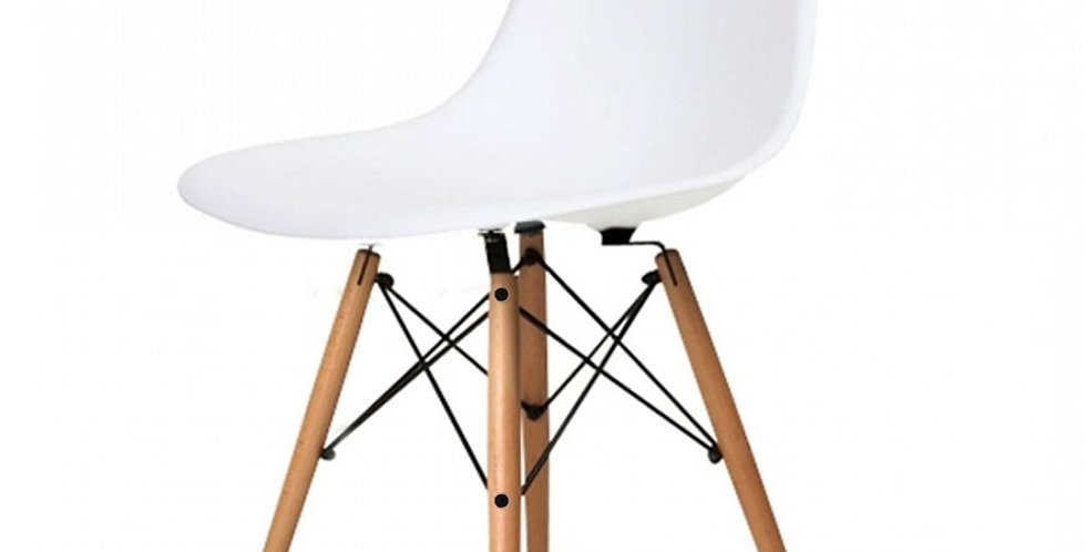Eames Style Plastic Tub Chair, White and other colours.Inspired Eiffel Retro DSW
