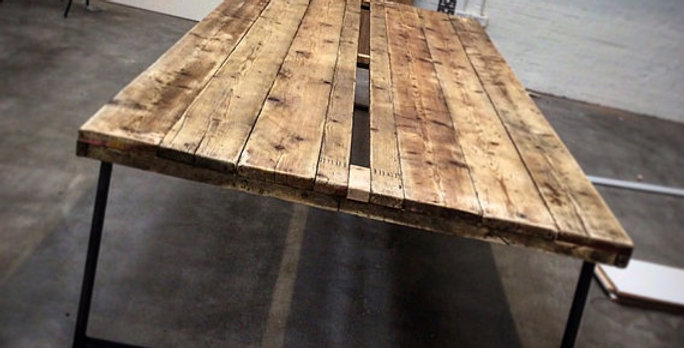 Reclaimed Industrial Chic 16-20 Seater Conference Office Table HCB 400