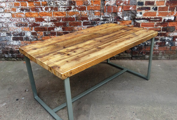 Reclaimed Industrial Chic 6-8 Seater Indoor Outdoor Dining Table Grey CB 179