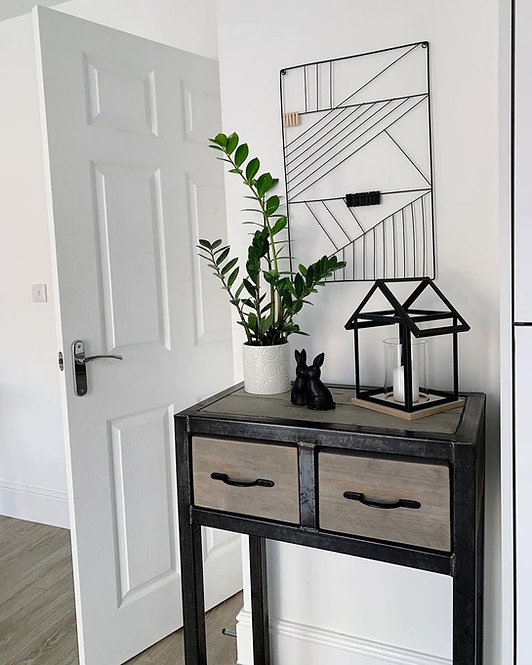 Industrial Chic Custom Reclaimed Console Table with 2 Drawers 680