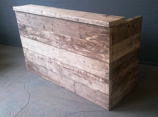 Reclaimed Industrial Chic Hand Made Custom Made Bar Front Counter 463