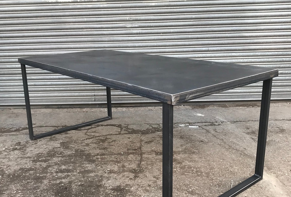 Industrial Steel Top Dining Table HCB 633