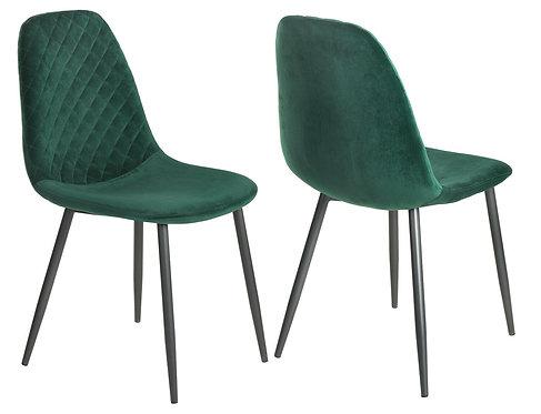 Retro Scandinavian Style Velvet Chair with Metal Legs