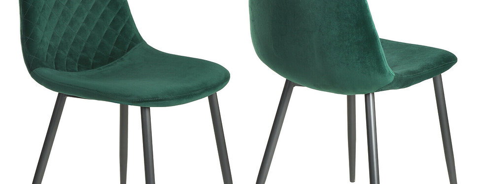 Retro Scandinavian Style Velvet Chair with Metal Legs