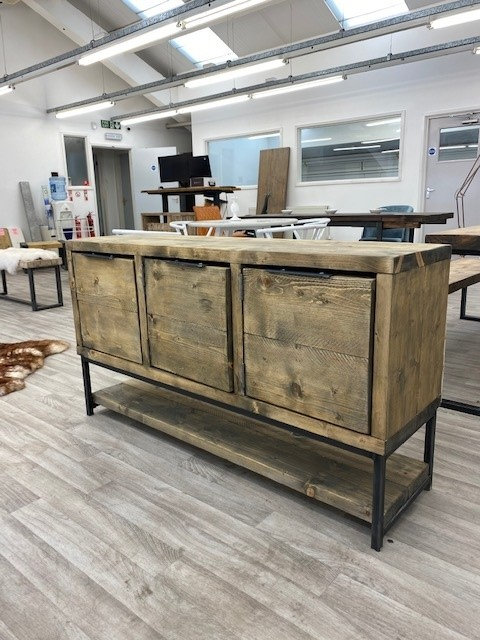 ***IN STOCK*** RECLAIMED TIMBER SIDEBOARD DRAWER UNIT IN OIL