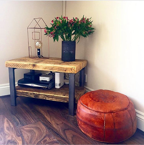 Industrial Chic Style Reclaimed Custom Coffee Table TV Unit 008