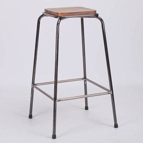Industrial Chic Metal School Lab Breakfast Bar Stool