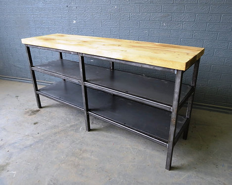 Industrial Chic Style Reclaimed Custom Coffee Table TV Unit Steel & Wood 468